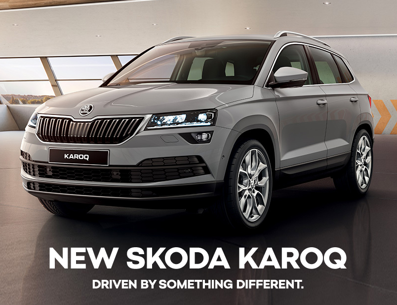 skoda karoq the all new suv bickerton skoda. Black Bedroom Furniture Sets. Home Design Ideas