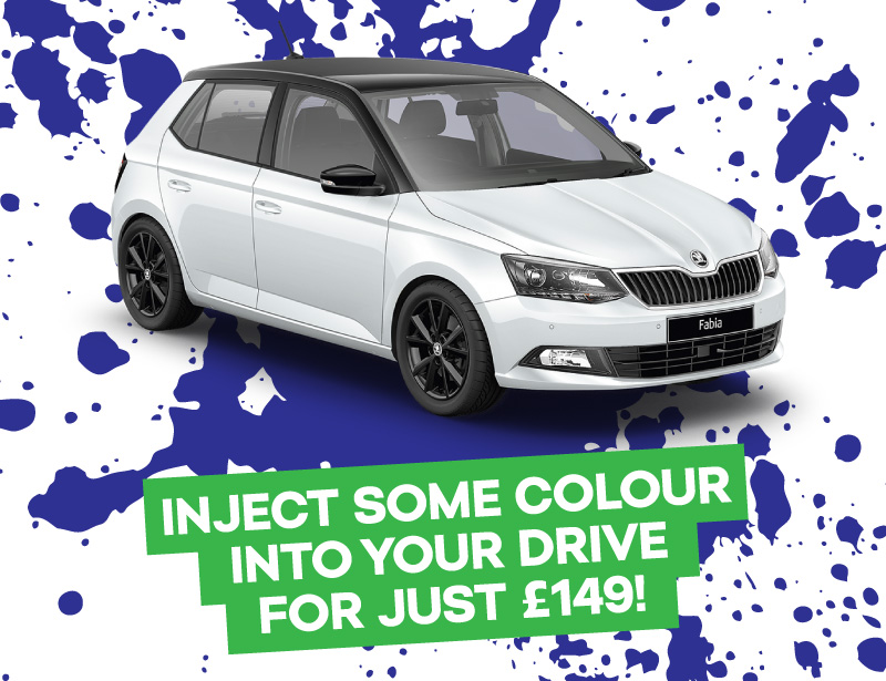 fabia colour edition only £149 deposit and £149 per month